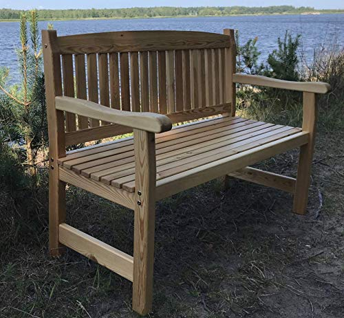 2-seater garden bench, wooden bench, benches made of Siberian larch wood.