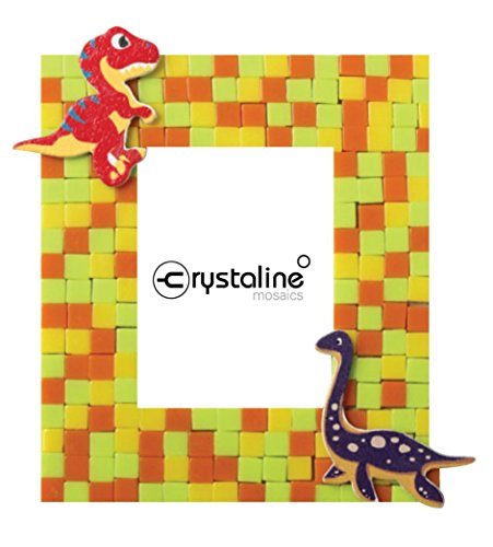 Crystaline Mosaic DIY Mini Table Top Picture Frame Kit - Dinosaur theme for small photo (1.5