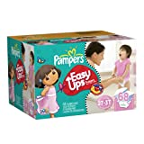 Pampers Easy Ups Girls Size 2T-3T Diapers Big Pack 68 Count