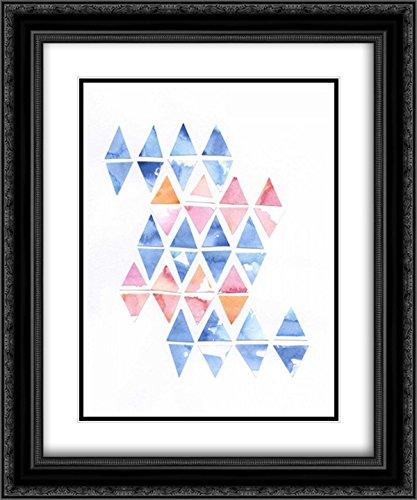 Diamond Cluster 2 15x18 Black Ornate Frame and Double Matted Art Print by Varacek, Pam