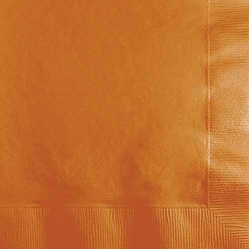 (500-Count Case Touch of Color 3-Ply Paper Beverage Napkins, Pumpkin Spice)