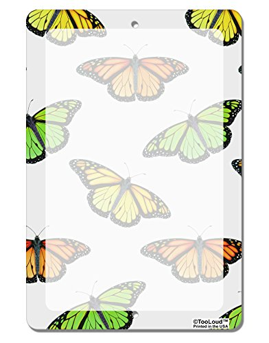 TooLoud Monarch Butterflies AOP Aluminum 8 x 12 Dry Erase Board Sign All Over Print Butterfly Dry Erase Board
