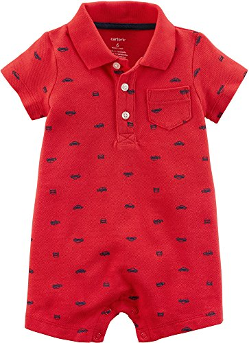 Carter's Baby Boys 1-Piece Creeper (3 Months, Red Cars)