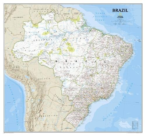Brazil Classic [Tubed] (National Geographic Reference Map)