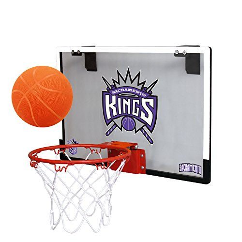 fan products of NBA Sacramento Kings Game On Indoor Basketball Hoop & Ball Set, Large, Purple