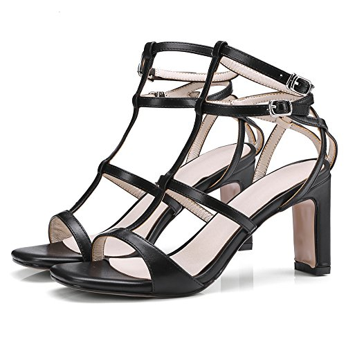 Coolcept Women Stylish High Heel Sandals Strap Black C0xKbHS