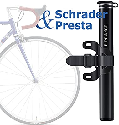 E-PRANCE Mini Bomba Portátil de Aire Mano para Carretera Montaña o BMX Bicicletas 130 PSI Válvula Presta y Schrader, Ultraligera Compacta: Amazon.es: Deportes y aire libre