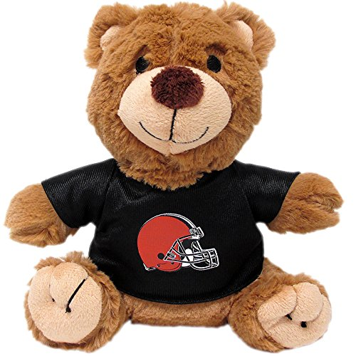 Pets First NFL Teddy Bear Plush Toy with Inner Squeaker for Dogs, Cats, Kids or Décor. Wearing an Cleveland Browns Jersey!