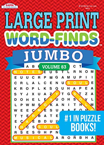 Jumbo LARGE Print Word-Finds Puzzle Book-Word Search Volume 83 Paperback – March 25, 2020