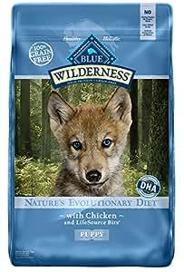 BLUE Wilderness Puppy Grain-Free Chicken Dry Dog Food 24-lb