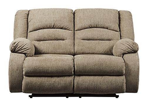 Mocha Loveseat Reclining (Signature Design by Ashley 8140314 Labarre Power Reclining Loveseat, Mocha)
