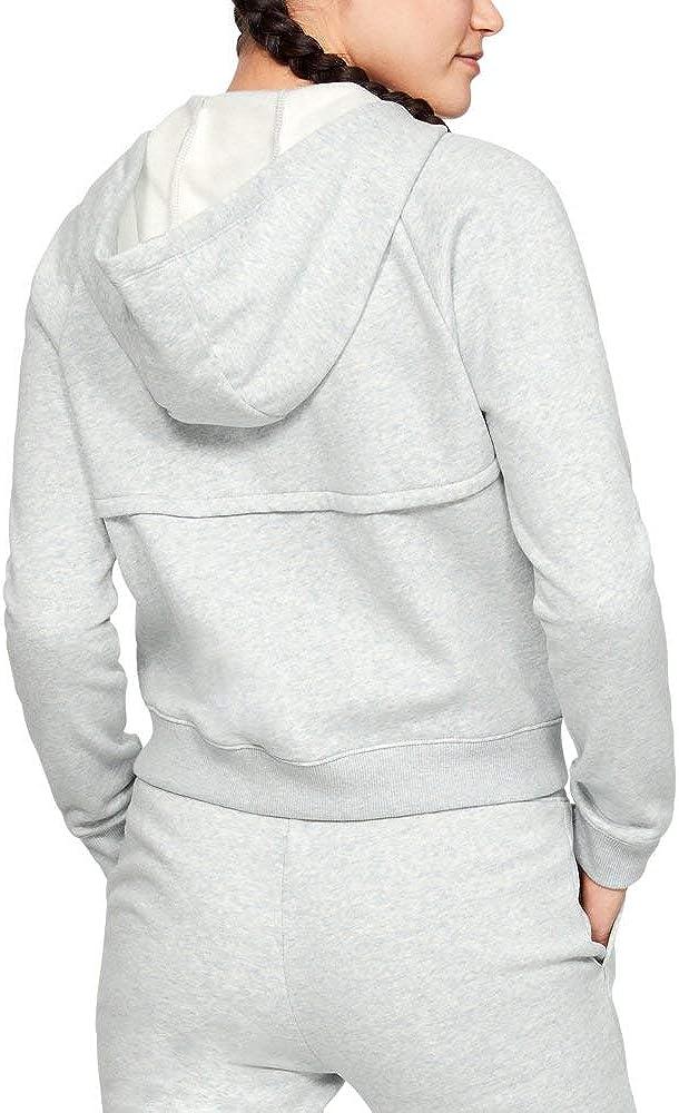 Under Armour Rival Fleece Full Zip, Mod Gray Light Mod Gray Light Heather (011)/Purple Ace