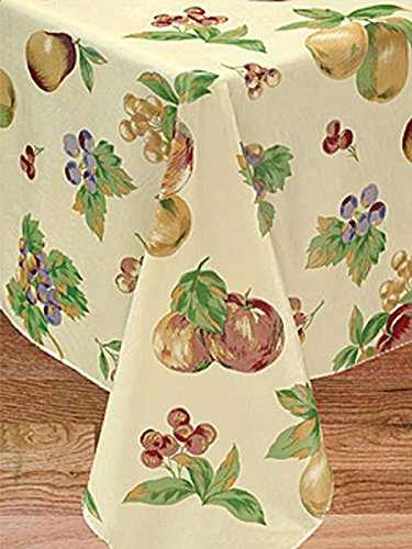 Apple Delicious Flannel Backed Vinyl Tablecloth, 60x84 Oblong(Rectangle)