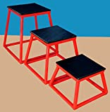 Plyo Boxes 3 pc set new-12'', 18'' and 24''