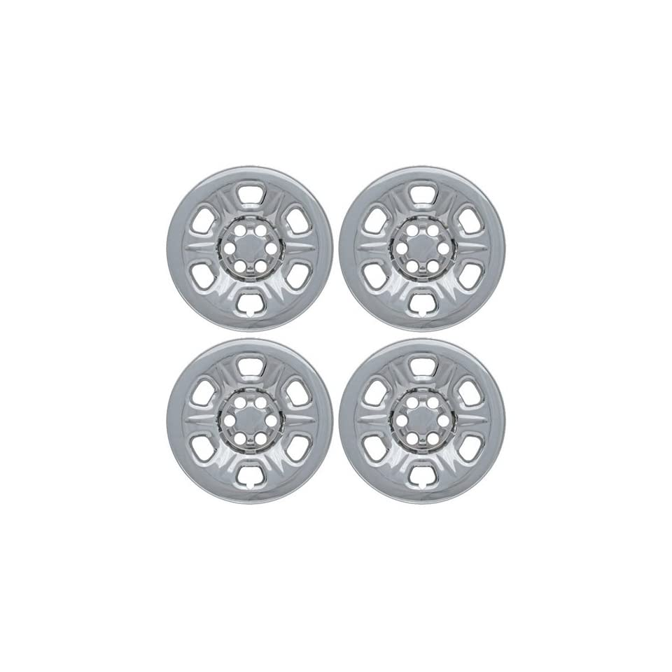 Set of 4 Chrome Wheel Skin Hub Covers With Center For 17x7 Inch 6 Lug Steel Rim   Part Number IWCIMP/69X