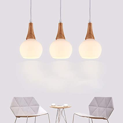 GYAng Lámpara de techo estilo rústico de madera rústica Loft ...