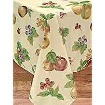 Apple Delicious Flannel Backed Vinyl Tablecloth, 70-Inch Round