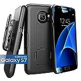 Encased® (Ultra-Slim) Belt Clip Holster Case for Samsung Galaxy S7 - Smooth Black