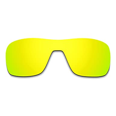 3e8a2a079a Hkuco Mens Replacement Lenses For Oakley Turbine Rotor Sunglasses 24K Gold  Polarized