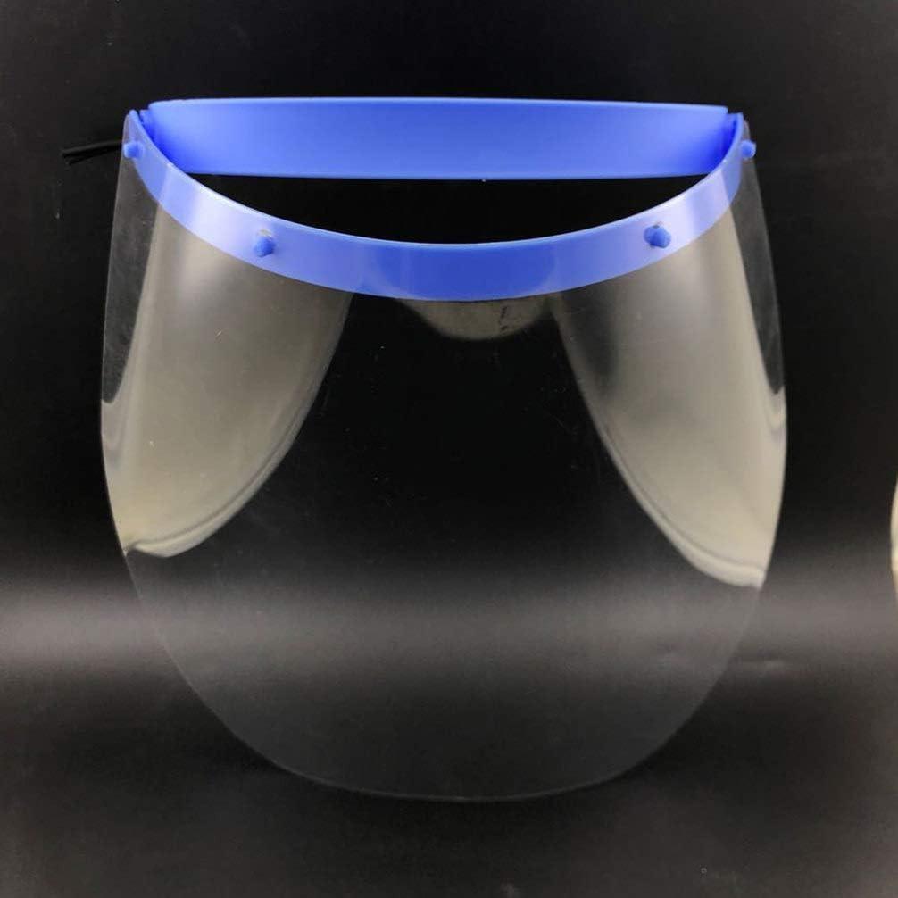 Blu Exceart 2 Pezzi di Protezione per Visiera Protettiva per Il Viso Protezione Antigoccia Starnuti Tappo di Protezione Integrale Antispruzzo per Esterno