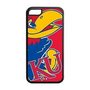 Ncaa Kansas Jayhawks KU Logo Blue Iphone 5c Hard Plastic Case Cover