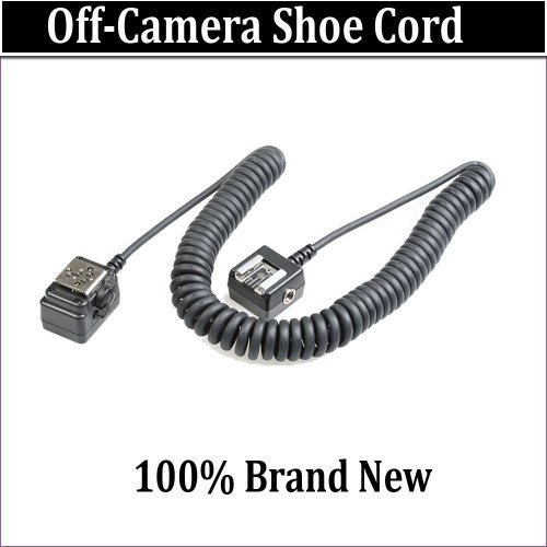 Off Camera Shoe Cord For The Sony ALPHA DSLR-A900, DSLR-A850, DSLR-A550, DSLR-A500 Digital SLR Cameras Which Have Any Of These (HVL-F58AM, F56AM, F42AM, F36AM, F20AM, F32X, F1000)