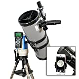 TwinStar Silver 6'' iOptron Computerized GPS Equatorial Reflector Telescope With Universal Smartphone Camera Adapter