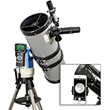 "TwinStar Silver 6"" iOptron Computerized GPS Equatorial Reflector Telescope With Universal Smartphone Camera Adapter"