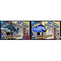 William Mark Air Swimmers Remote Control Flying Regal Tang and and Air Swimmers Shark 2 pack - Makes a Great Gift for any Occasion!