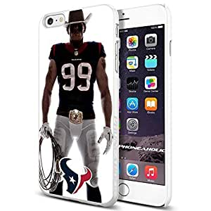 NFL Houston Texan Watt , , Cool iPhone 6 Plus (6+ , 5.5 Inch) Smartphone Case Cover Collector iphone TPU Rubber Case White [By PhoneAholic]