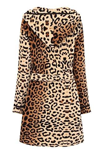 Corto x Cintura Taglia Leopardato con Morbido Grande Accappatoio Lusso Cappuccio Donna Vestaglia Snuggle con Casa Corel da S Vestaglia Donna YFOqwT