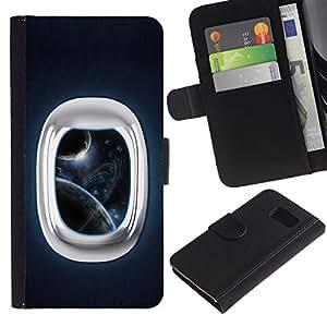 Billetera de Cuero Caso Titular de la tarjeta Carcasa Funda para Samsung Galaxy S6 SM-G920 / Space Window / STRONG