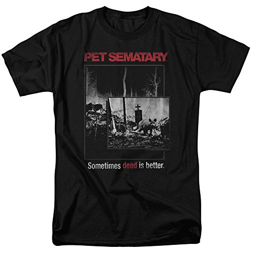 Trevco Pet Semetary Cat Poster Short Sleeve Mens Shirt