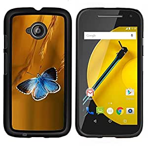 Queen Pattern - FOR Motorola Moto E 2nd Generation - butterfly rye blue flight spring summer - Cubierta del caso de impacto con el patr???¡¯???€????€??&sbqu