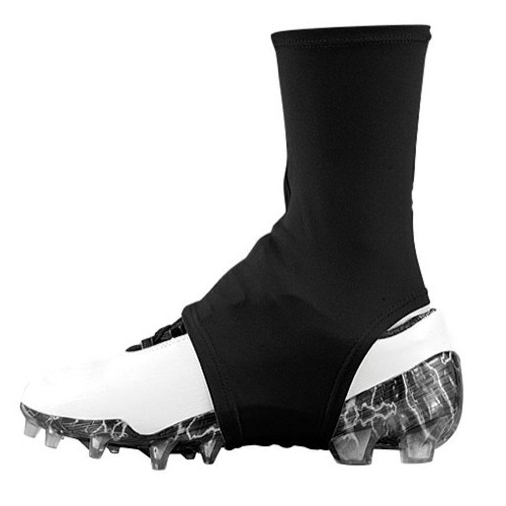 Dmaxx サッカースパイクカバー スパッツ B00MEQRBCS Large|ブラック ブラック Large