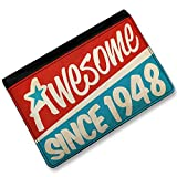 RFID Passport Holder Awesome since 1948, Birthday/Year, Cover Case / Wallet - N