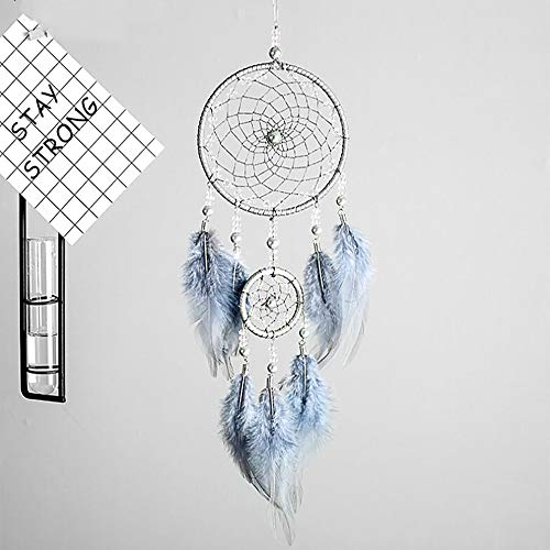 Gotian 46 cm/18.11inch Handmade Dream Catcher Feathers Owl Wall Car Hanging Decoration Girls Room Home Ornament Gift