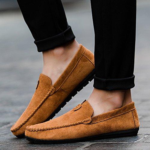Men Casual De Marrón De Conducir Semilla Zapatos Estilo ALIKEEY Joven 'S Verano Comodo Cool Solid Y pBRxnqX0