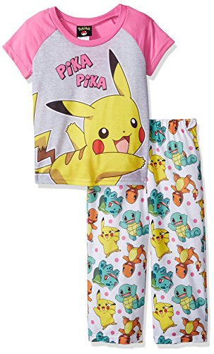 Pokemon Big Girls' 2-Piece Pajama Set, Pink, (Pokemon Girl)