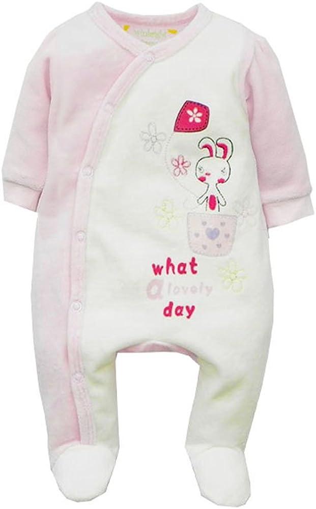 Baby Girls Lovely Rabbit Footed Fleece Sleeper Pajama