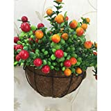 AODEW Wall-mounted Decor Flower Pots Hanging Planter Basket Hanger Garden Decoration Hanging Baskets Planter Basket