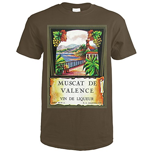 Muscat De Valence Wine Label (Dark Chocolate T-Shirt X-Large)
