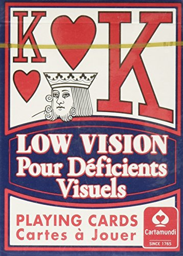 Low Vision Playing Cards: Poker Size