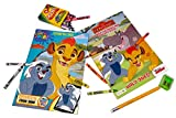 Lion Guard Coloring Book Bundle - 2 Coloring Books with with 1 Pack of Crayola Crayons 16 ct. Plus Free Bonus 1 Jumbo Pencil and 1 Sharpener.