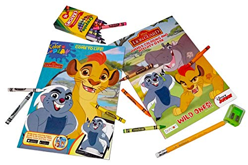 Lion Guard Coloring Book Bundle - 2 Coloring Books with with 1 Pack of Crayola Crayons 16 ct. Plus Free Bonus 1 Jumbo Pencil and 1 Sharpener. by Lion Guard
