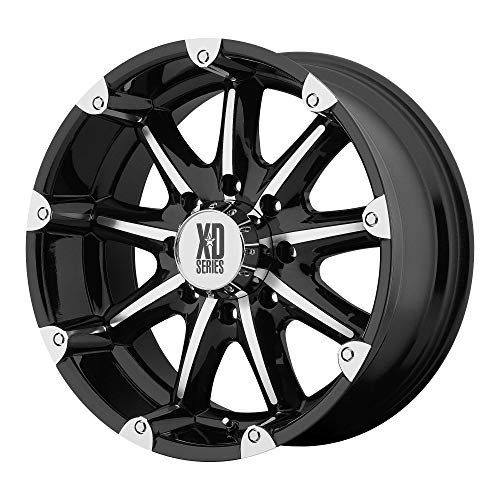 XD SERIES BY KMC WHEELS BADLANDS GLOSS BLACK MACHINED for sale  Delivered anywhere in USA