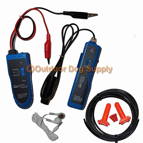 Underground Cable Wire Locator, Easily Locate Pet Fence Wires, Sprinkler Control Wires, Metal Pipes, Electrical Wires, Telephone Wire, Coax Cable, Great Break Finder Detector for Dog Fences