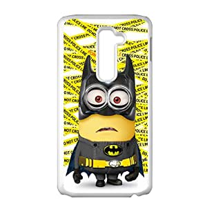 Cute Yellow Minion Bat Man White LG G2 case