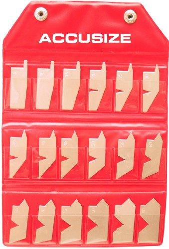 AccusizeTools - 18 Pcs Angle Gauge Set, #EG02-5050