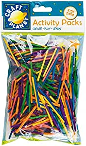 DoCrafts Wooden Matchsticks Assorted Colours - per Pack